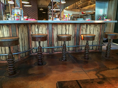 custom metal bar stools fabrication
