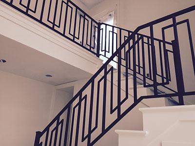 powder coated railings