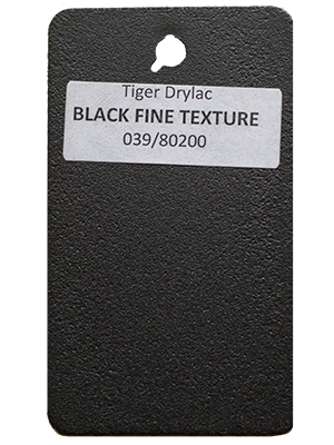 Black Fine Texture Powder Coating
