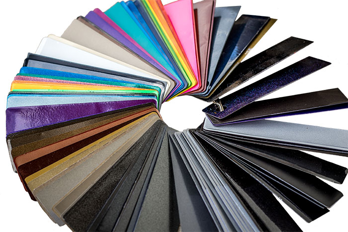 Color Wheel of powder coating color samples