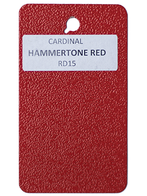 Hammertone Red Powder Coating