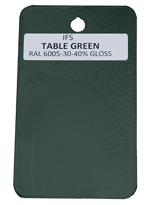 Table Green Powder Coating Utah