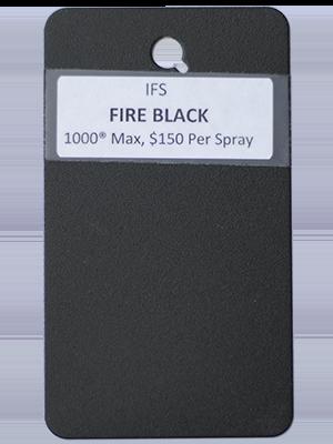 Fire Black Powder Coating