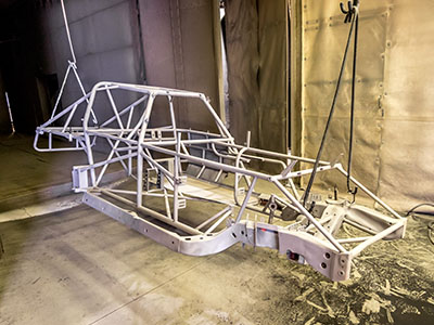Dune Buggies -  white powder coating dune buggy frame