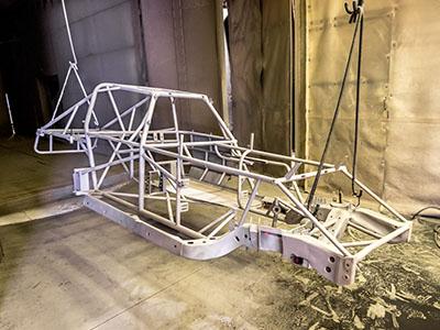 Dune Buggies -  white powder coating dune buggy frame
