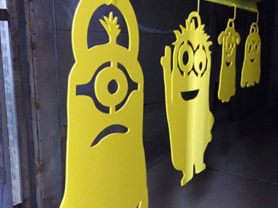 Powder Coated custom minion Decor